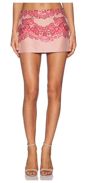 Red Valentino Lace brocade mini skirt in pink - Shell: 72% poly 28% polyamideLining: 67% acetate 33%...