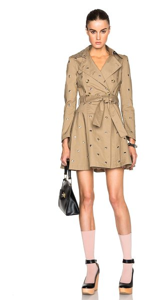 Red Valentino Mackintosh trench coat in neutrals - 100% cotton.  Made in China.  Button front closures. ...