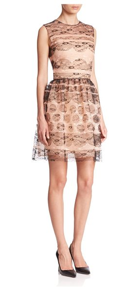 Red Valentino Multi-lace dress in nude-multi - Contrasting lace accents define this fit-&flare style,...