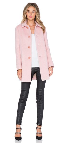 Red Valentino Peacoat in pink - Shell: 61% wool 27% polyamide 5% acrylic 5% mohair 2%...