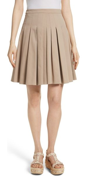 RED VALENTINO pleated skirt in beige - Crisp pleating channels classic schoolgirl style on a...