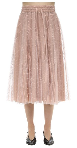 Red Valentino Plumetis midi skirt in blush