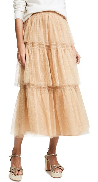 Red Valentino point d'esprit tulle skirt in desert - A tiered RED Valentino skirt with a romantic look,...