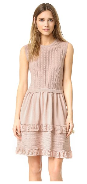Red Valentino Pointelle ruffle dress in nude - A charming RED Valentino tank dress with delicate...