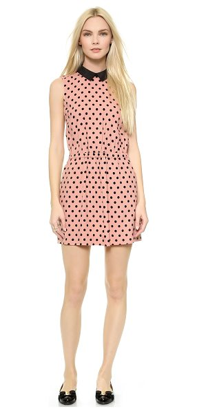 Red Valentino Polka dot cinch waist dress in nude - A sweet RED Valentino dress in a polka dot print. The...
