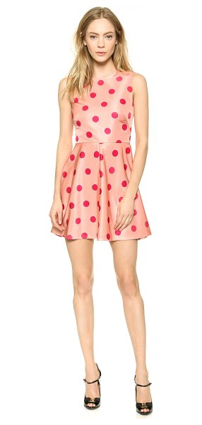 Red Valentino Polka dot printed dress in nude - Bright polka dots add a cheery touch to a fit and flare...