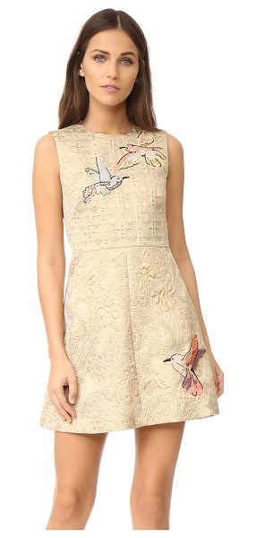RED VALENTINO embroidered jacquard dress - Beaded hummingbirds accent this A-line RED Valentino...