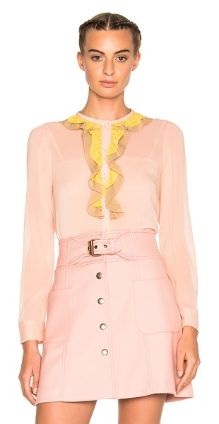 Red Valentino Ruffle Top in pink - REDValentino delves into the here and now with a...