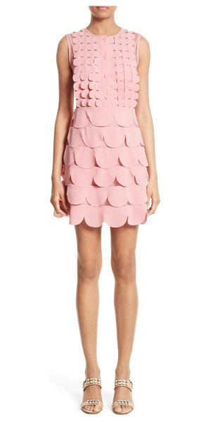 Red Valentino scallop point d'esprit dress in pink - RED Valentino's unabashed femininity is on full display...