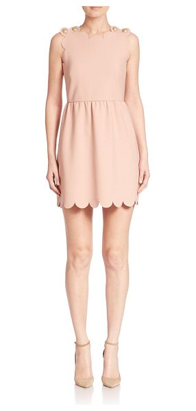 Red Valentino Scalloped a-line dress in nude - Feminine scalloped dress in A-line silhouette....