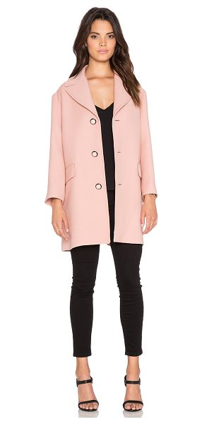 Red Valentino Single breasted coat in blush - Self: 100% woolLining: 67% acetate 33% poly. Dry clean...
