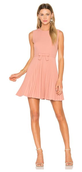RED VALENTINO Sleeveless Pleated Mini Dress - Sugary sentiment is channelled through the precious...