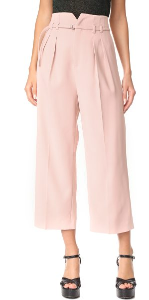 RED VALENTINO tie trousers - Pleats accentuate the wide-leg style of these cropped...