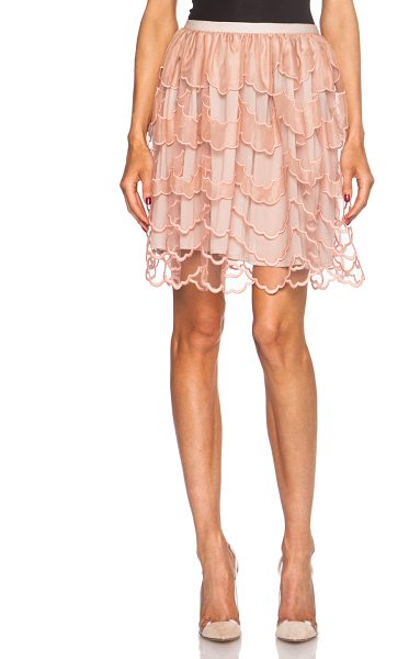 Red Valentino Tulle poly skirt in neutrals - Self & Lining: 100% poly - Contrast Fabric: 100% silk -...