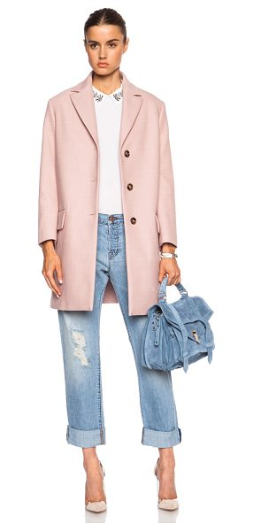 RED VALENTINO Wool-blend coat - Self: 51% cotton 24% poly 20% virgin wool 5% elastan -...