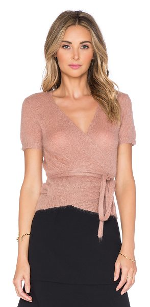 Red Valentino Wrap sweater in blush - 67% mohair 28% polyamide 5% wool. Hand wash cold. Wrap...