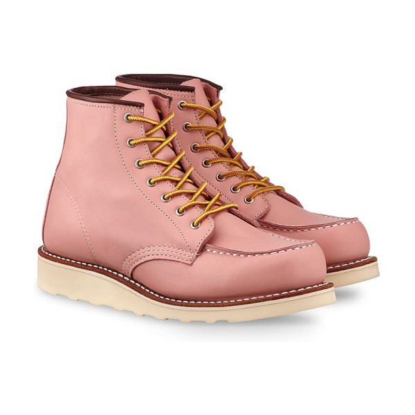 Red Wing 6-inch moc boot in pink