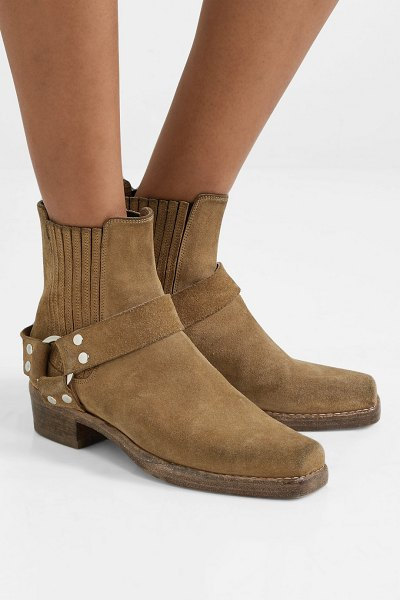RE/DONE calvary suede ankle boots in tan