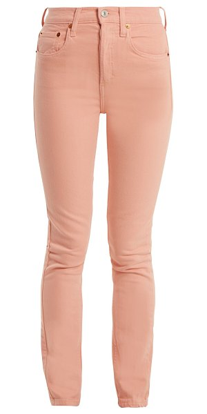 RE/DONE ORIGINALS high-rise skinny jeans in pink