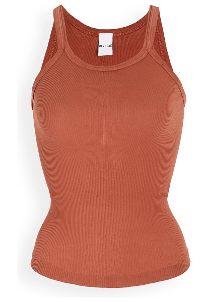 RE/DONE ribbed tank in taupe