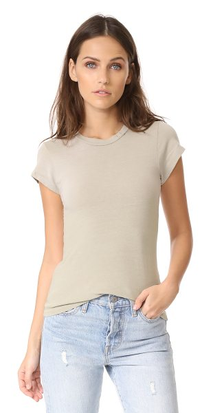 RE/DONE x hanes 1960s slim tee in faded sand - Part of the RE/DONE collaboration with Hanes. A slim...