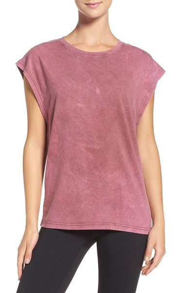 Reebok face-x tee in burnt sienna - A stonewashed cotton blend gives a vintage, well-loved...