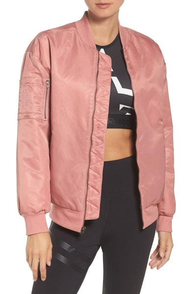 REEBOK favorite bomber jacket - The relaxed-fit bomber remixed by lustrous, twill-weave...