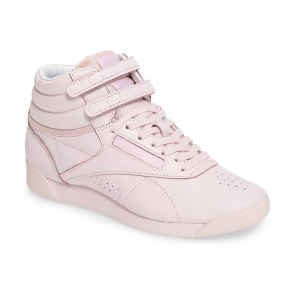 Reebok freestyle hi colorbomb sneaker in porcelain pink/ white - With a minimalist look that still delivers maximum...