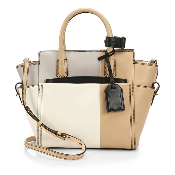 REED KRAKOFF Mini atlantique colorblock mondrian shoulder bag - Crafted from colorblock leather in a winged silhouette,...