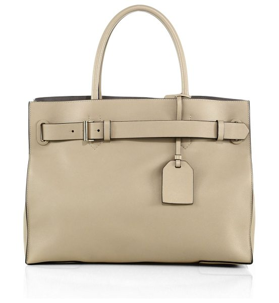 Reed Krakoff Rk40l milled-leather satchel in natural - Crafted from milled leather for exquisite softness, this...