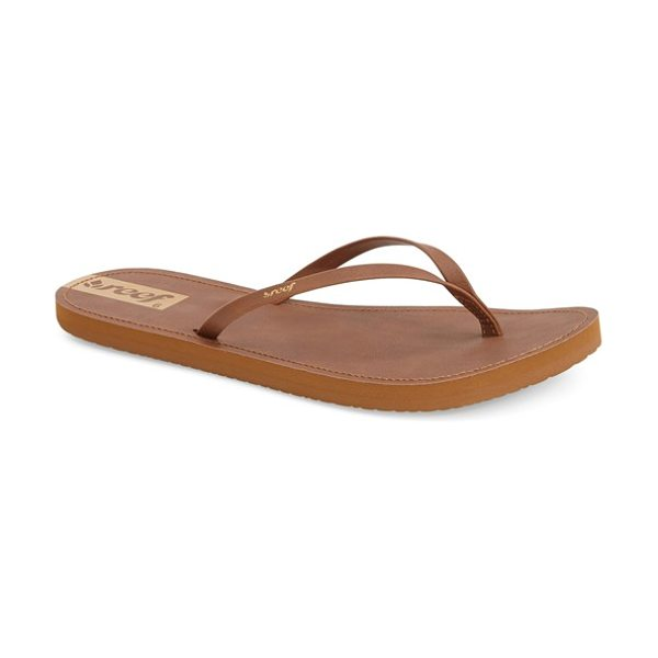 Reef downtown flip flop in brown - Slim contrast straps instantly upgrade a favorite pair...