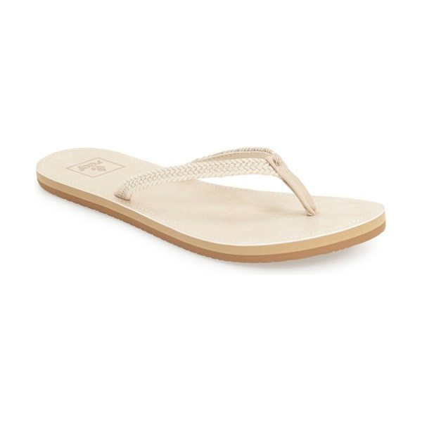 Reef downtown truss flip flop in beige - Slim braided straps instantly upgrade a comfy,...