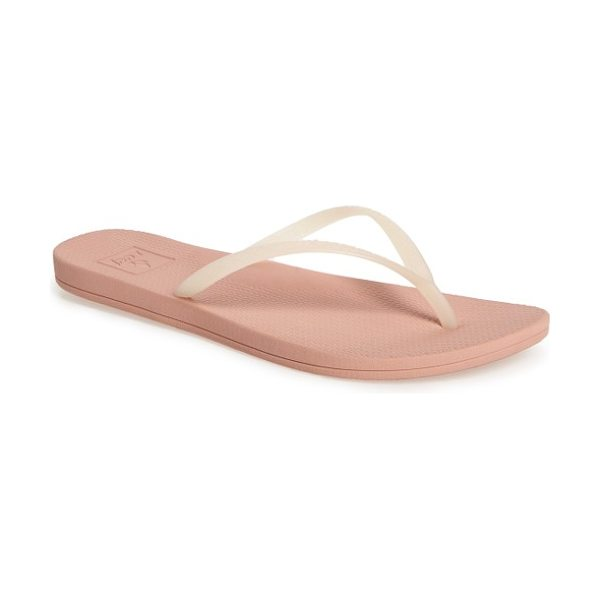 Reef escape lux flip flop in blush - Beach-ready comfort and casual style merge in a...