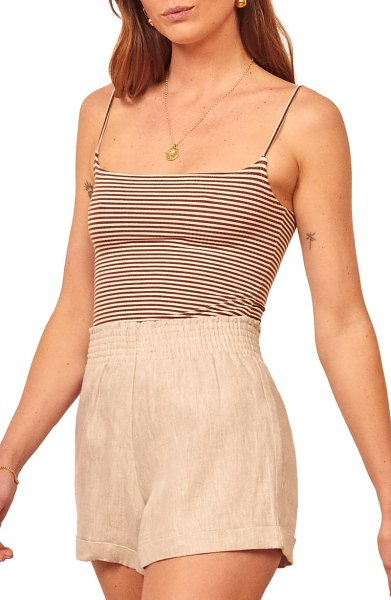 REFORMATION carrie camisole in brown