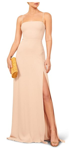 REFORMATION ingrid maxi dress in beige