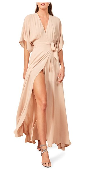 REFORMATION winslow maxi dress in beige