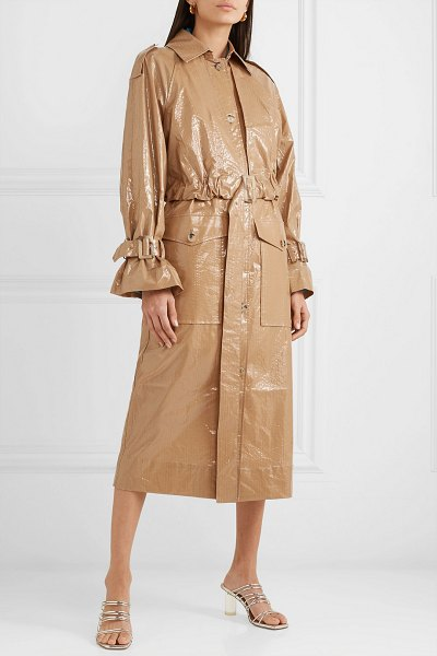 Rejina Pyo coated-cotton trench coat in taupe