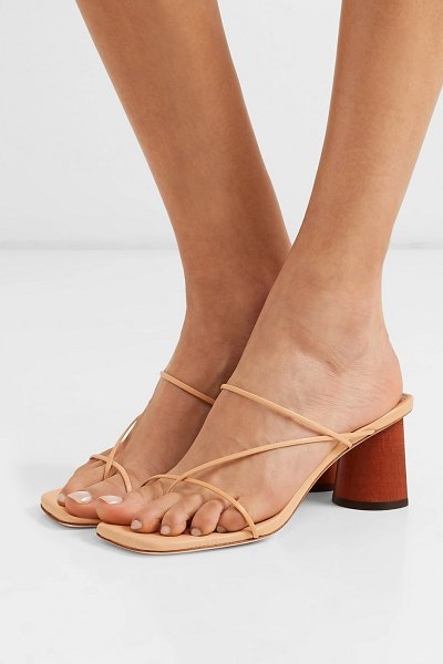 Rejina Pyo harley leather sandals in peach