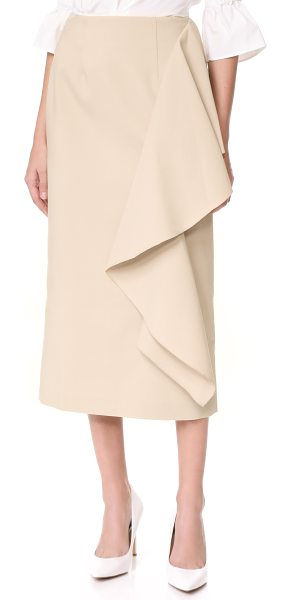 Rejina Pyo maude skirt in ecru - NOTE: Sizes listed are UK. A flounced ruffle wraps...