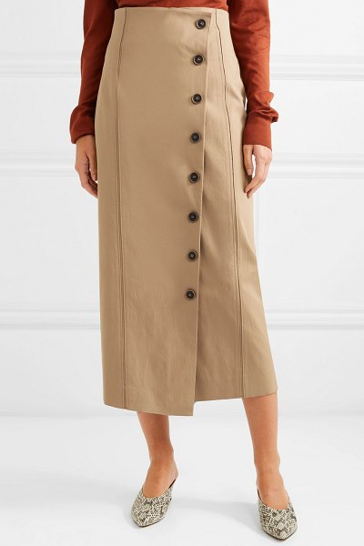 Rejina Pyo scout woven midi skirt in camel