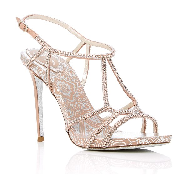 Rene Caovilla M'O Exclusive: Cage Wallpaper Sandal in brown - This *M'O Exclusive: Rene Caovilla* sandal is rendered...