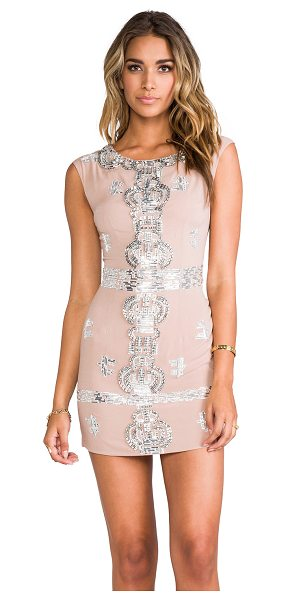 Renzo + Kai Laura sequin dress in blush - Silk blend. Lined. Dry clean only. Bead and rhinestone...