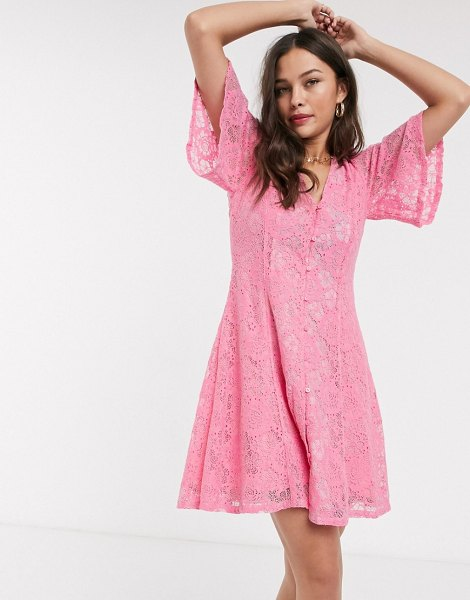 Résumé resume tyre lace mini dress in pink in pink