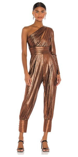 retrofete timi jumpsuit in coffee