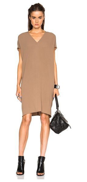 Rick Owens Floating tunic in neutrals - 60% silk 40% acetate.  Made in Italy.  Unlined.