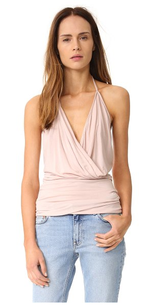 Rick Owens Lilies halter top in rose - A draped Rick Owens Lilies halter top in tissue weight...