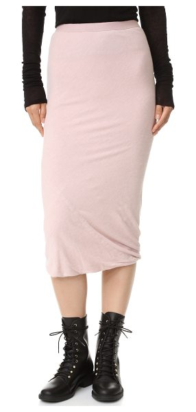 Rick Owens Lilies Rick Owens Lilies Tube Skirt in rose - This pilled jersey Rick Owens Lilies skirt cuts a slim...