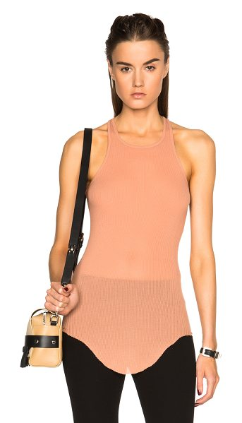 Rick Owens Ribbed cotton basic tank in pink,orange - 85% viscose 15% silk.  Made in Italy.  Rib knit fabric. ...