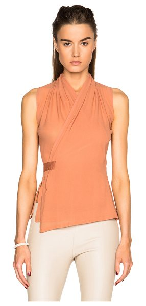 Rick Owens Rick Owen Vincente Wrap Vest in pink,orange - 100% silk.  Made in Italy.  Sheer fabric.  Wrap around...