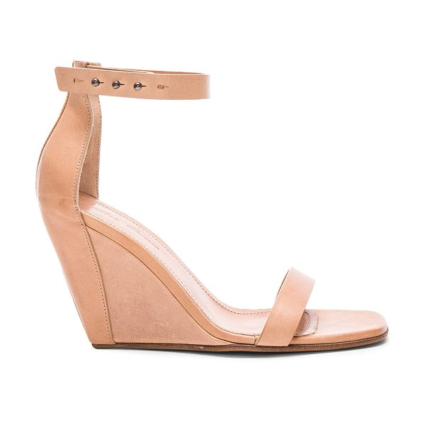Rick Owens Strappy Leather Wedges in neutrals - Leather upper and sole.  Made in Italy.  Approx 100mm/ 4...